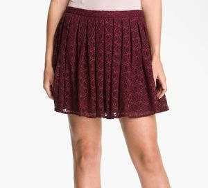 Willow or Clay Wine Lace Boho Skirt